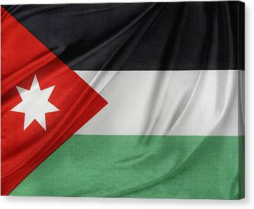 Jordan Flag Canvas Print by Les Cunliffe