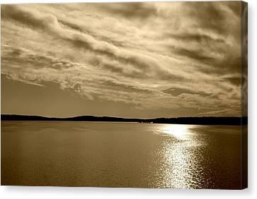 Canvas Print featuring the photograph Jordan Lake  Nc by Kelly Nowak