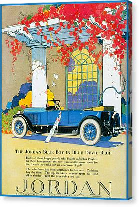Jordan Motor Car Company Canvas Print by Vintage Automobile Ads and Posters