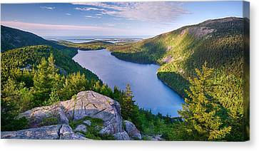 Jordan Pond From The North Bubble Canvas Print