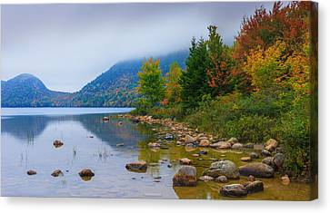 Jordan Pond In Acadia National Park Canvas Print by Henk Meijer Photography