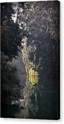 Jordan River At Yardinet Canvas Print by Stephen Stookey