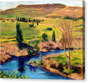 Jordan River In Israel Canvas Print by Hannah Baruchi