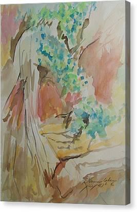 Jordan River Sources Canvas Print by Esther Newman-Cohen