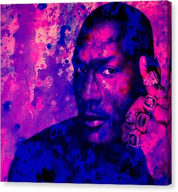 Jordan Canvas Print - Jordan Six Rings by Brian Reaves
