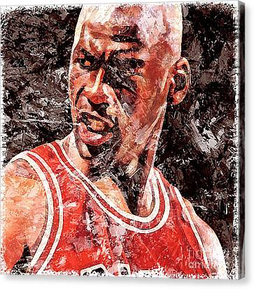 Jordan The Best Canvas Print by Victor Arriaga