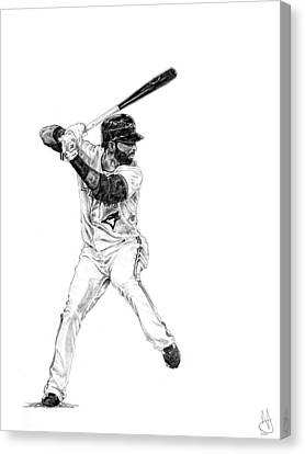 Bluejay Canvas Print - Jose Bautista by Joshua Sooter