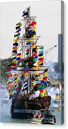 Jose Gasparilla Ship Work A Canvas Print