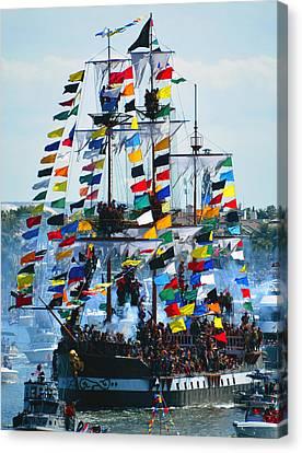 Jose Gasparilla Ship Work B Canvas Print