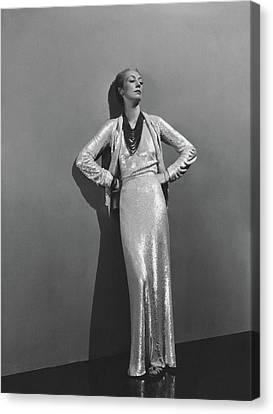 Jose-maria Sert Wearing A Chanel Dress Canvas Print