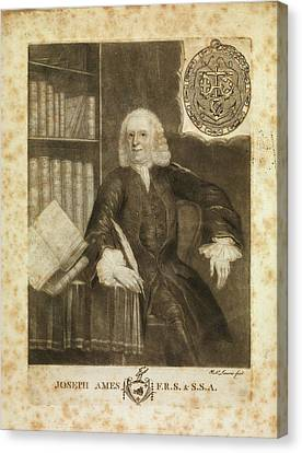 Joseph Ames Canvas Print by Middle Temple Library