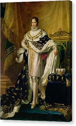 Joseph Bonaparte 1768-1844 After 1808 Oil On Canvas Canvas Print by Francois Pascal Simon, Baron Gerard
