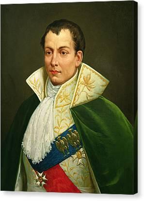Cravat Canvas Print - Joseph Bonaparte 1768-1844 Oil On Canvas by Luigi Toro