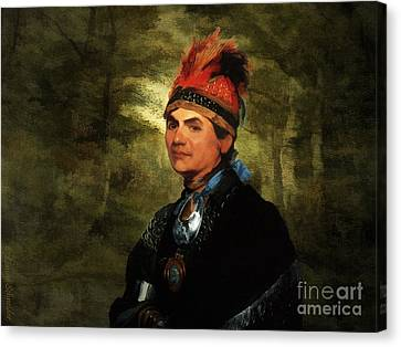 Joseph Brant After Stuart Canvas Print by Lianne Schneider