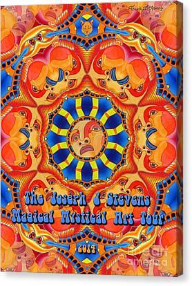 Joseph J Stevens Magical Mystical Art Tour 2014 Canvas Print