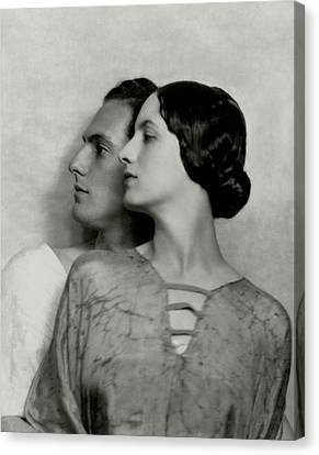Joseph Schildkraut And Elise Bartlett Canvas Print by Nicholas Muray