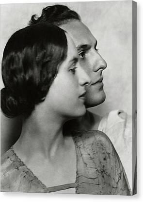 Joseph Schildkraut With Elise Bartlett Canvas Print by Nickolas Muray
