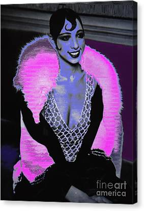 Josephine Baker The Original Flapper Canvas Print by Saundra Myles