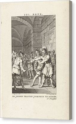 Threatening Canvas Print - Josephus Threatened With Murder, Theodoor Koning by Quint Lox