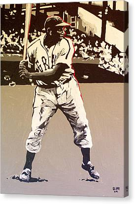 Josh Gibson Homestead Grays Canvas Print by Paul Guyer