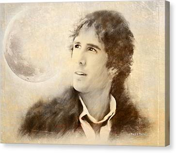 Josh Groban On A Cold Winter Night Canvas Print by Angela A Stanton
