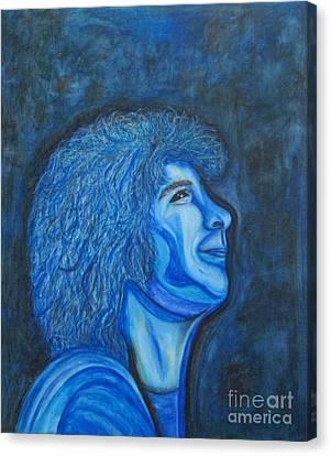 Josh Groban's Got The Blues Canvas Print by Margaret Newcomb
