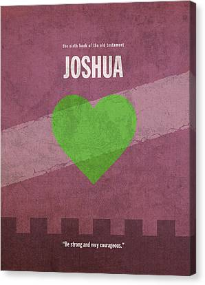 Joshua Books Of The Bible Series Old Testament Minimal Poster Art Number 6 Canvas Print by Design Turnpike