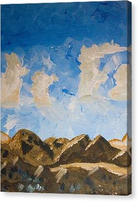Joshua Tree National Park And Summer Clouds Canvas Print