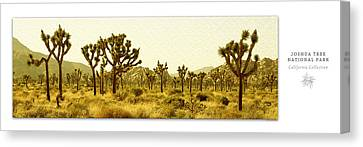 Joshua Tree National Park Art Poster - California Collection Canvas Print by Ben and Raisa Gertsberg