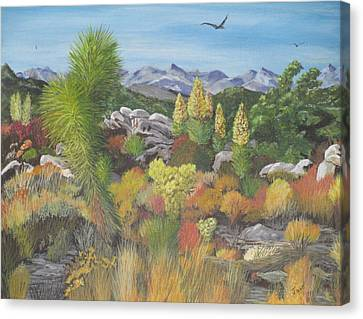 Joshua Tree Park Canvas Print by Hilda and Jose Garrancho