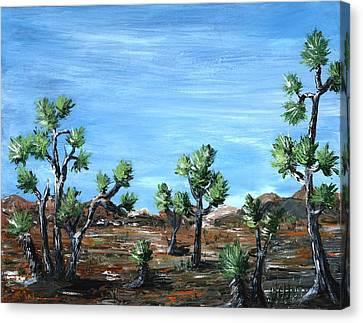 Joshua Trees Canvas Print by Anastasiya Malakhova
