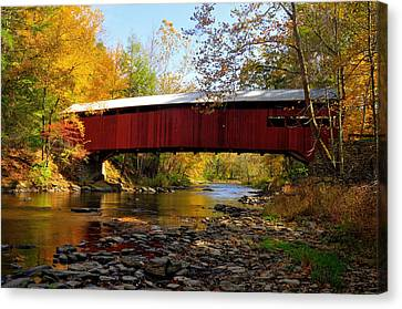 Josiah Hess Covered Bridge Canvas Print by Dan Myers