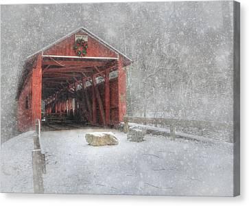 Josiah Hess Covered Bridge Canvas Print by Lori Deiter
