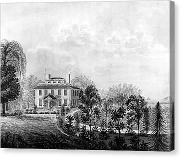 Carousel House Canvas Print - Josiah Quincy House by Granger