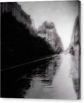 Jour De Pluie Canvas Print by David Fox