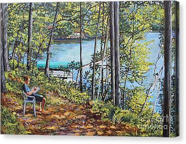 Journal At The Lake Canvas Print