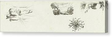 Sun Rays Canvas Print - Journal With Four Vignettes, Willem Bilderdijk by Willem Bilderdijk
