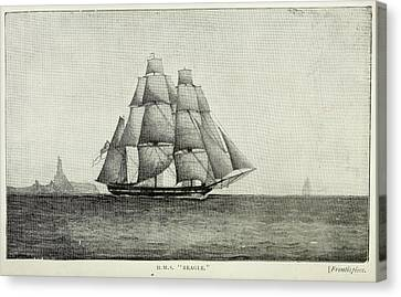 Journals Of Charles Darwin Canvas Print