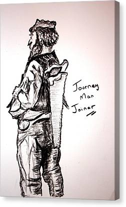 Journey Man Joiner Canvas Print by Paul Morgan