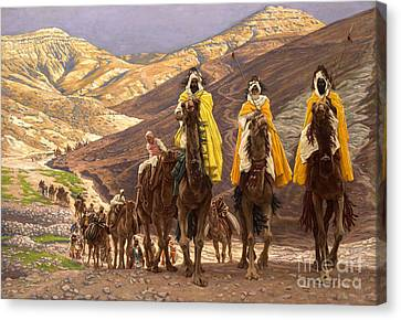 Three Kings Canvas Print - Journey Of The Magi by Tissot