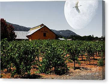 Napa Valley And Vineyards Canvas Print - Journey Through The Valley Of The Moon 5d24485 by Wingsdomain Art and Photography
