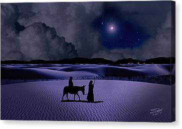 Journey To Bethlehem Canvas Print by Schwartz