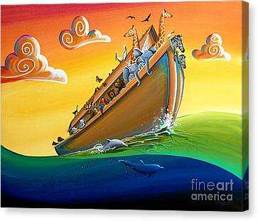 Noah's Ark - Journey To New Beginnings Canvas Print by Cindy Thornton