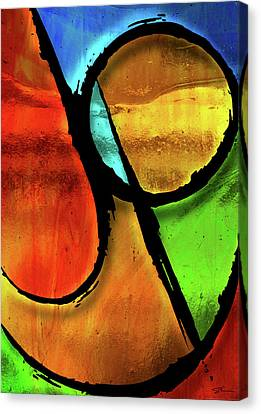 Joy-abstract Canvas Print by Shevon Johnson