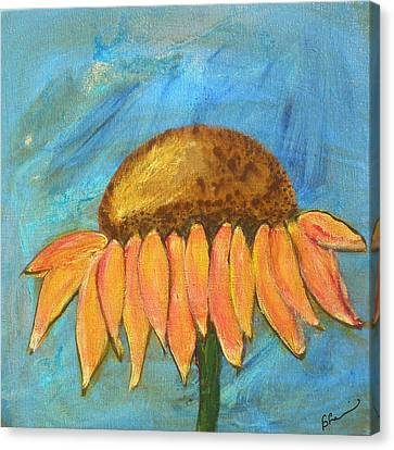 Abstracted Coneflowers Canvas Print - Joy by Barbara Harvie