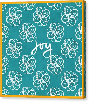 Joy Boho Floral Print Canvas Print by Linda Woods