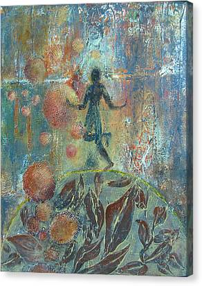 Divine Breath Canvas Print - Joy In The Garden by Sharon Lacy-Huff