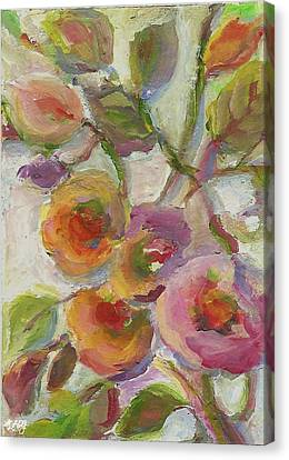 Canvas Print featuring the painting Joy by Mary Wolf