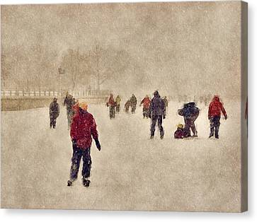 Joy Of Winter Canvas Print by Celso Bressan