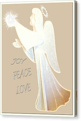 Joy Peace Love Card Canvas Print by Debra     Vatalaro